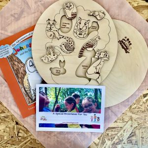 Childrens Puzzle and Book Bundle which teaches children about Irish Wildlife through the puzzle and the story Johnny Magory and the Forest Fleadh Cheoil