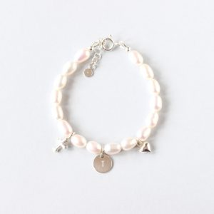Personalised First Communion Silver Bracelet