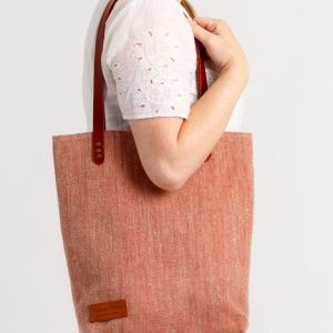 Aoibh Tote Shopper designed by Valerie Taylor Handwoven in Ireland