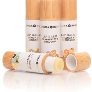 AromaBuff Set of 4 Beeswax Lip Balms designed by Aroma Buff