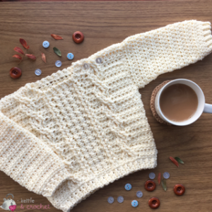 Baby Aran Cable Sweater designed by Circle Vivendi