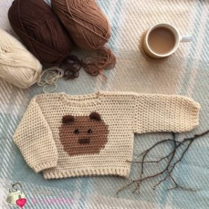 Baby Bear jumper designed by Circle Vivendi