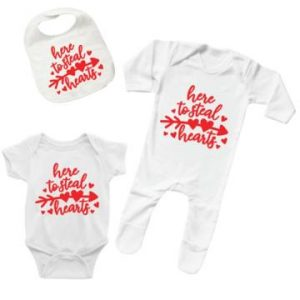 """""""Here To Steal Hearts"""" Baby Full Set designed by All Tied Up"""