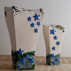 Blue Gentian Vase Burren Collection designed by Creative Clay