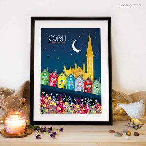 Cobh Cork - Signed Print designed by Diademadisara