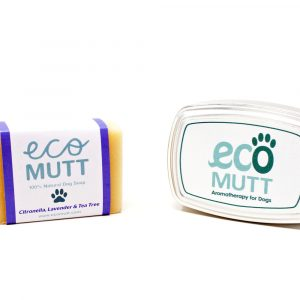 Dog Shampoo Bar with SOAP TIN in Gift Bag - Citronella, Lavender & Tea Tree designed by Eco Mutt