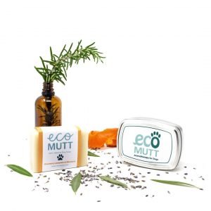 Dog Shampoo Bar with SOAP TIN in Gift Bag - Rosemary, Lavender & Mandarin designed by Eco Mutt