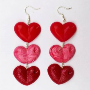 Drop Your Lover Drop Love Heart earrings designed Emma Larkin Designs