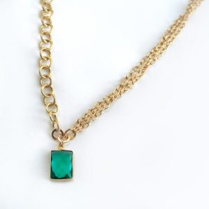 GREEN AMETHYST || NECKLACE designed by One Dame Lane