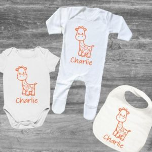Giraffe Personalised Matching Set designed by All Tied Up
