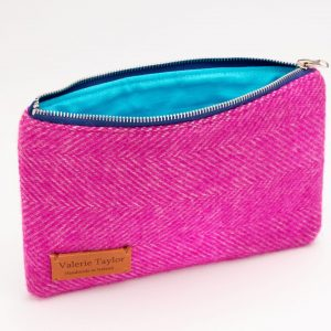 Handcrafted Travel Pouch designed by Valerie Taylor Handwoven in Ireland