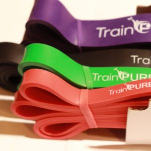 Set of 4 long loop 100% Natural Latex Resistance Bands