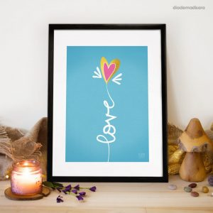 Love - Signed Print designed by Diademadisara
