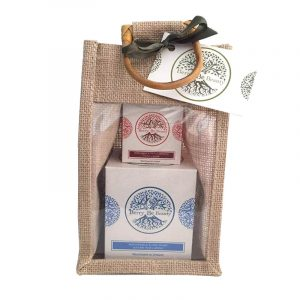 May Chang & Ylang Ylang Essential Oil Candle &Bergamot & Sweet Orange Hand cream Gift Set designed by Berry Be Beauty
