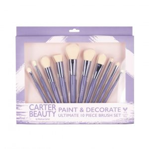 PAINT & DECORATE 10-PIECE BRUSH SET designed by Carter Beauty