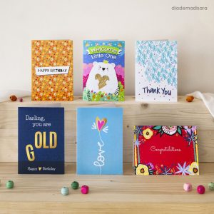 Pack of 6 Mixed Cards designed by Diademadisara