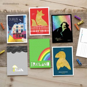 Pack of 6 Mixed Postcards designed by Diademadisara