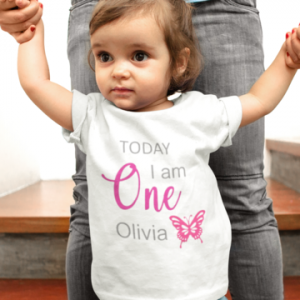 Personalised Birthday T-shirt Butterfly designed by All Tied Up