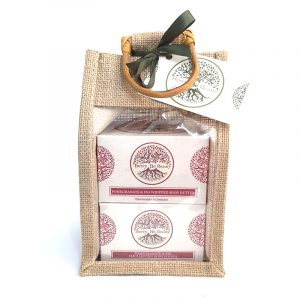 Pomegranate & Fig Whipped Body Butter and Emulsifying Body Polish Gift Set. designed by Berry Be Beauty