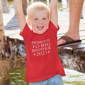 Promoted to Big Brother T-shirt designed by All Tied Up