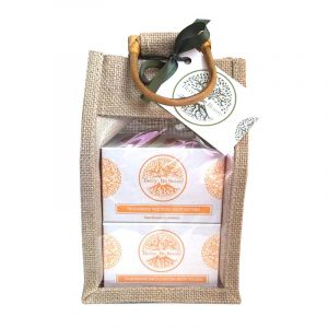 Tangerine Whipped Body Butter and Emulsifying Body Polish Gift Set designed by Berry Be Beauty.