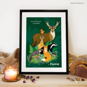 The Animal Kingdom of Ireland the Forest - Signed Print designed by Circle Vivendi