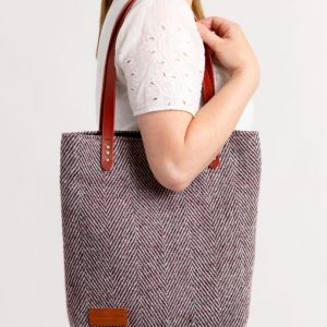 Toby Tweed Tote designed by Valerie Taylor Handwoven in Ireland