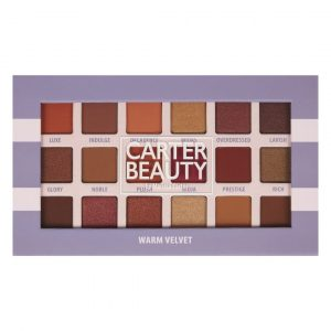 WARM VELVET 18-SHADE EYESHADOW PALETTE designed by Carter Beauty
