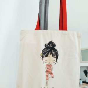 The organic cotton lily tote in the style life is all about balance
