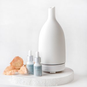 Gabriel Ceramic Diffuser by Dandelion & Wishes. A ceramic vase like ultrasonic diffuser to be used for home fragrance purposes with diffuser oil blends