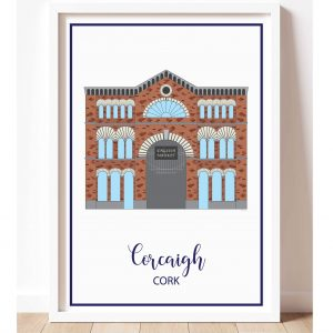 print of cork english market and a white background