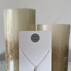 Silver necklace with silver moon