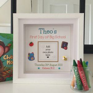 As Cute as a Button Personalised Framed Prints FIRST DAY OF SCHOOL GIFT