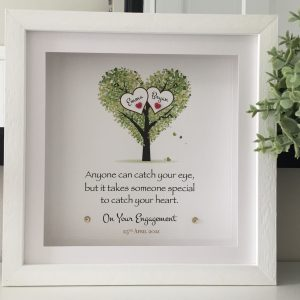 engagement frame from As Cute as a Button Personalised Framed Prints