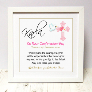 Confirmation gift for girl As Cute as a Button Personalised Framed Prints