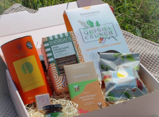 The foodie gift box with curated Irish products from Croia Ireland.