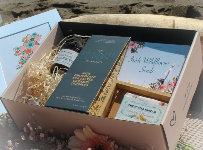 Housewarming gift box with curated Irish products from Croia Ireland.
