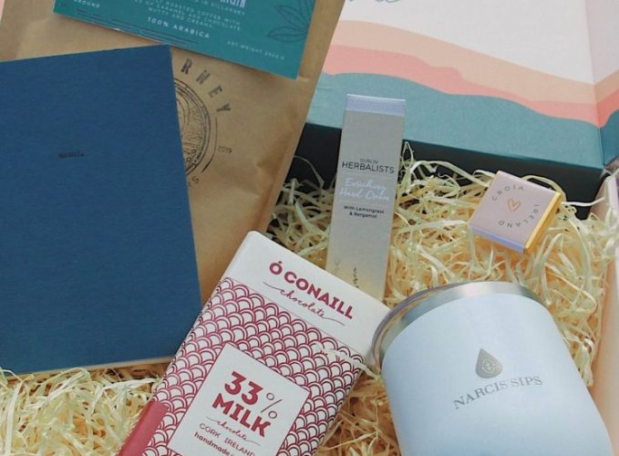 The hustler gift box with curated Irish products from Croia Ireland.