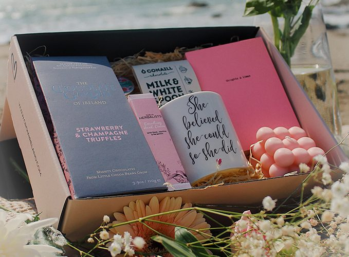 The Pamper Me Good gift box with curated Irish products from Croia Ireland.